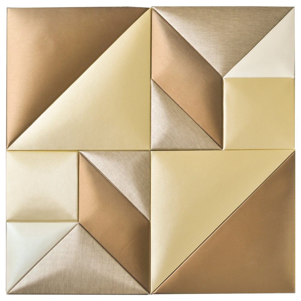 Tangram Leather Panel for Interior PU Soft Wall Covering 12x24In
