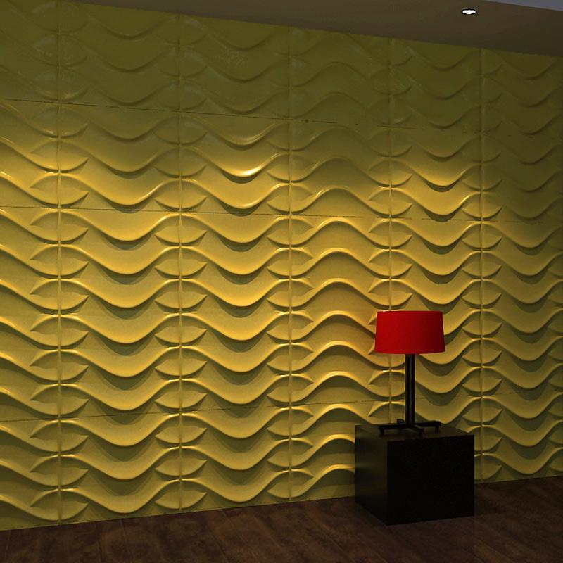 Wall Flats Eco-friendly 3D Wallpaper Plant Fibers White 32 Sq.Ft