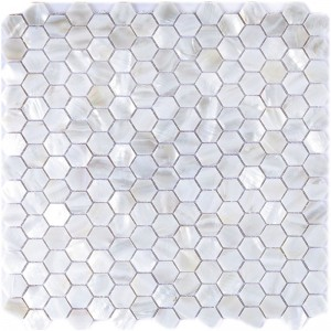 A18009 - Backsplash Wall Tiles River Bed Nature Pearl Shell Mosaic 12