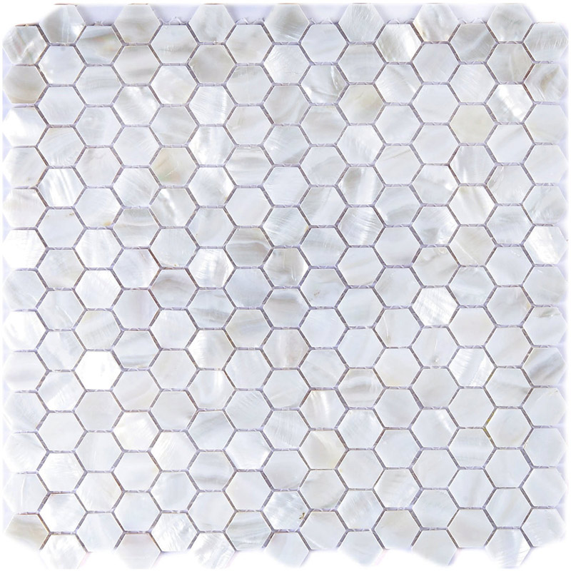 River Bed Nature Pearl Shell Mosaic 12 Quot X 12 Quot Hexagon