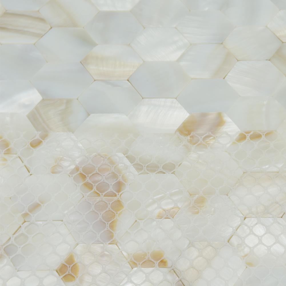 White Shell Mosaic Backsplash Tile