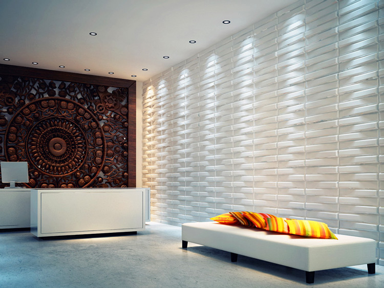 threedwall waves paintable paneling