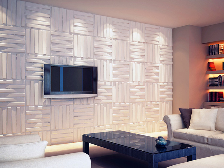 Wall Flats 3D Decorative Wall Panels 1 Box 12 Pieces 32 Sq.Ft