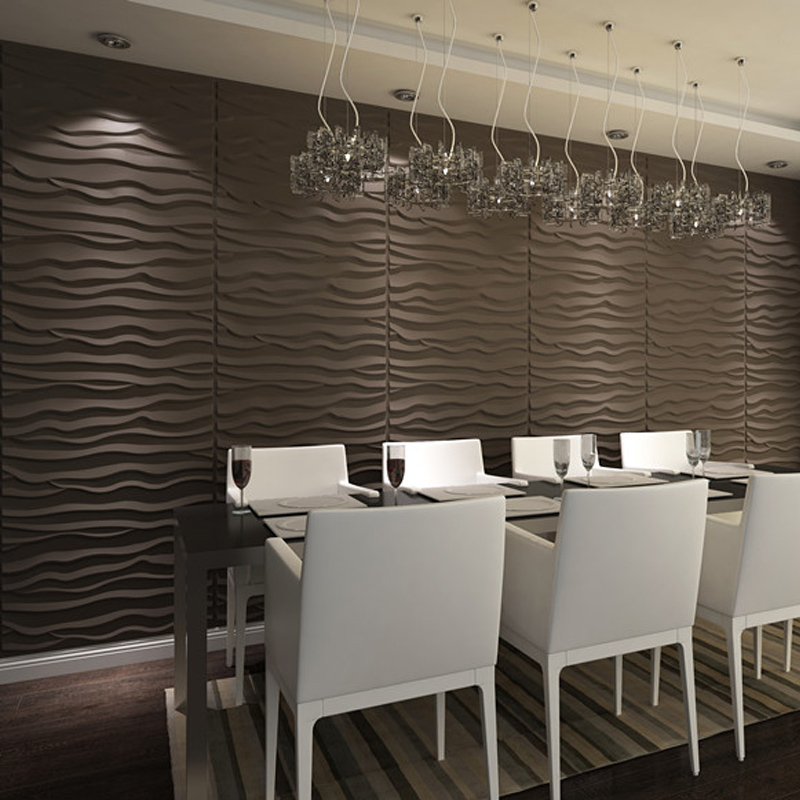 3D Textured Wainscoting 3D Wall Panels Off-white (Set 0f 6
