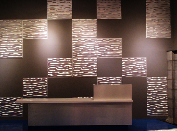 3D Textured Wainscoting