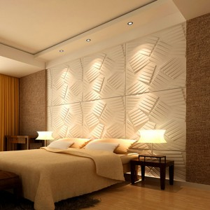 A21070 - 3D Wall Flats Decorative Wall Panels Primitive-White (Set of 36) 1x1M 387.5 Sq.Ft