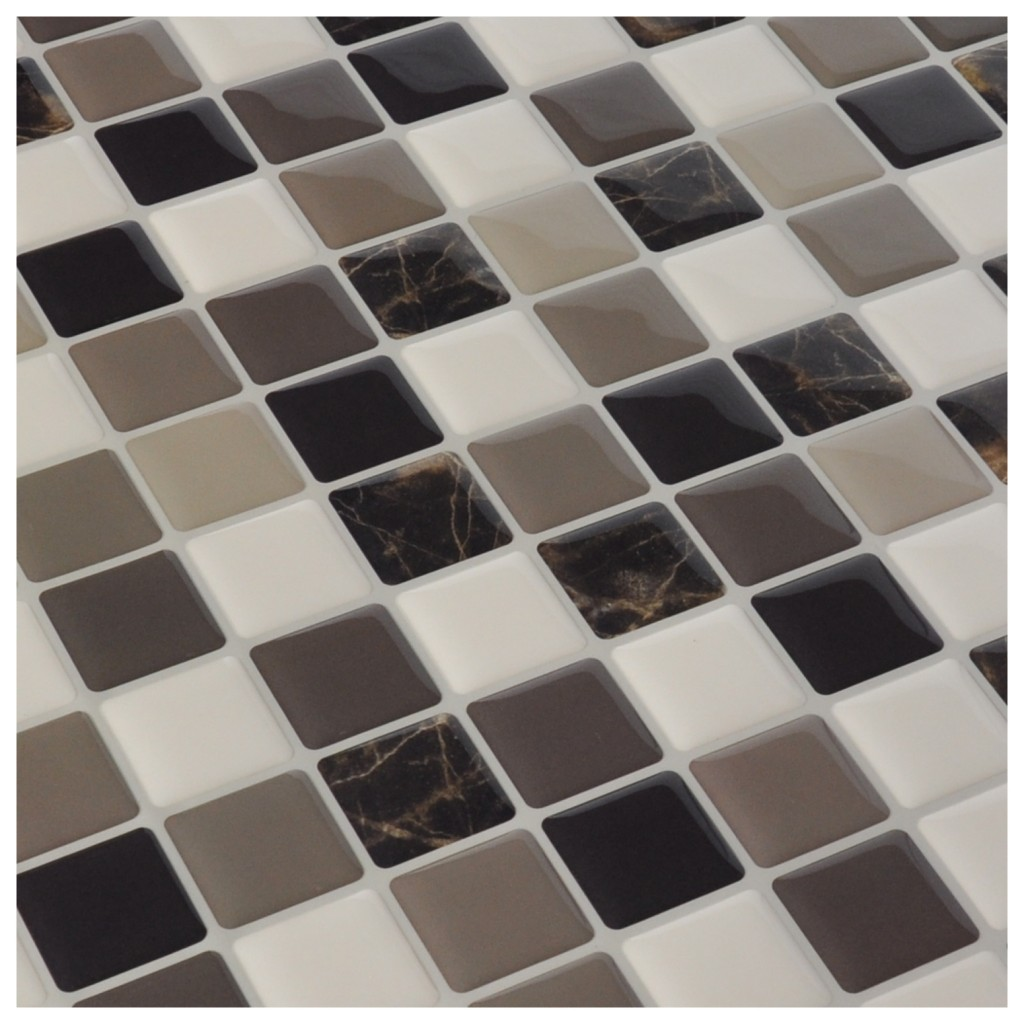 Adhesive backsplash tile