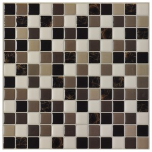 DIY Vinyl Tile Backsplash Adhesive Wall Covering for Kitchen, Bathroom 6 Tiles 5.8 Sq.Ft