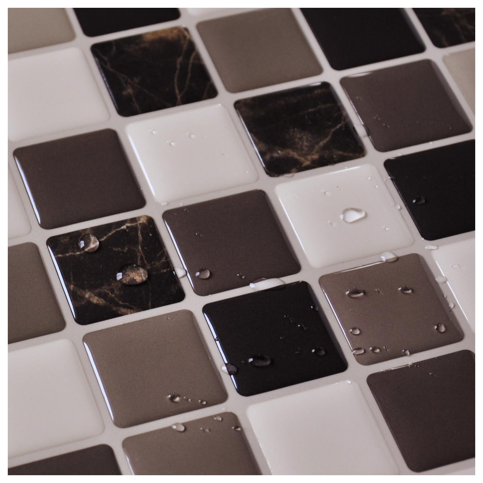 diy vinyl tile backsplash adhesive wall covering for