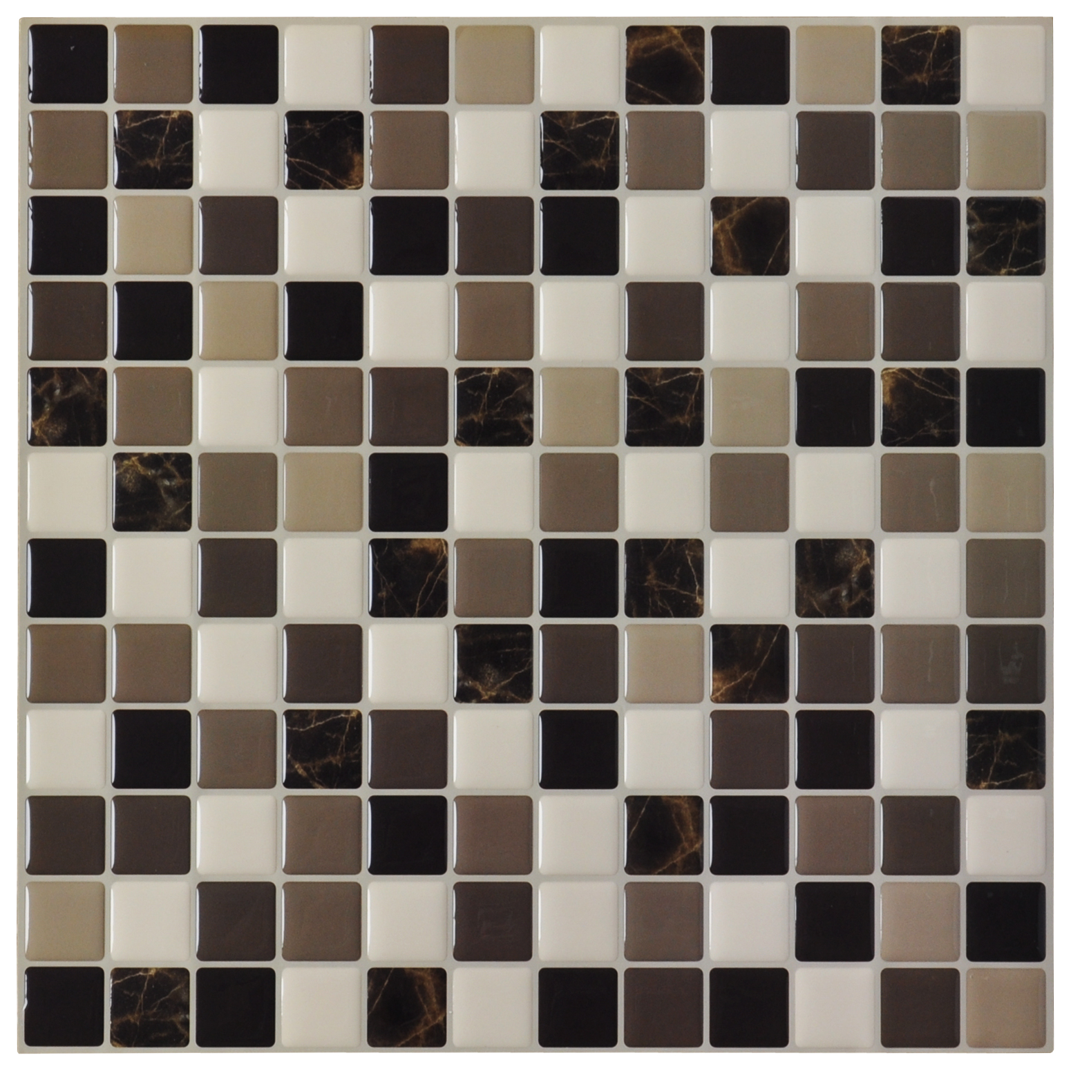 Diy vinyl tile backsplashes for kitchen marble square set of 6 Backsplash wall tile
