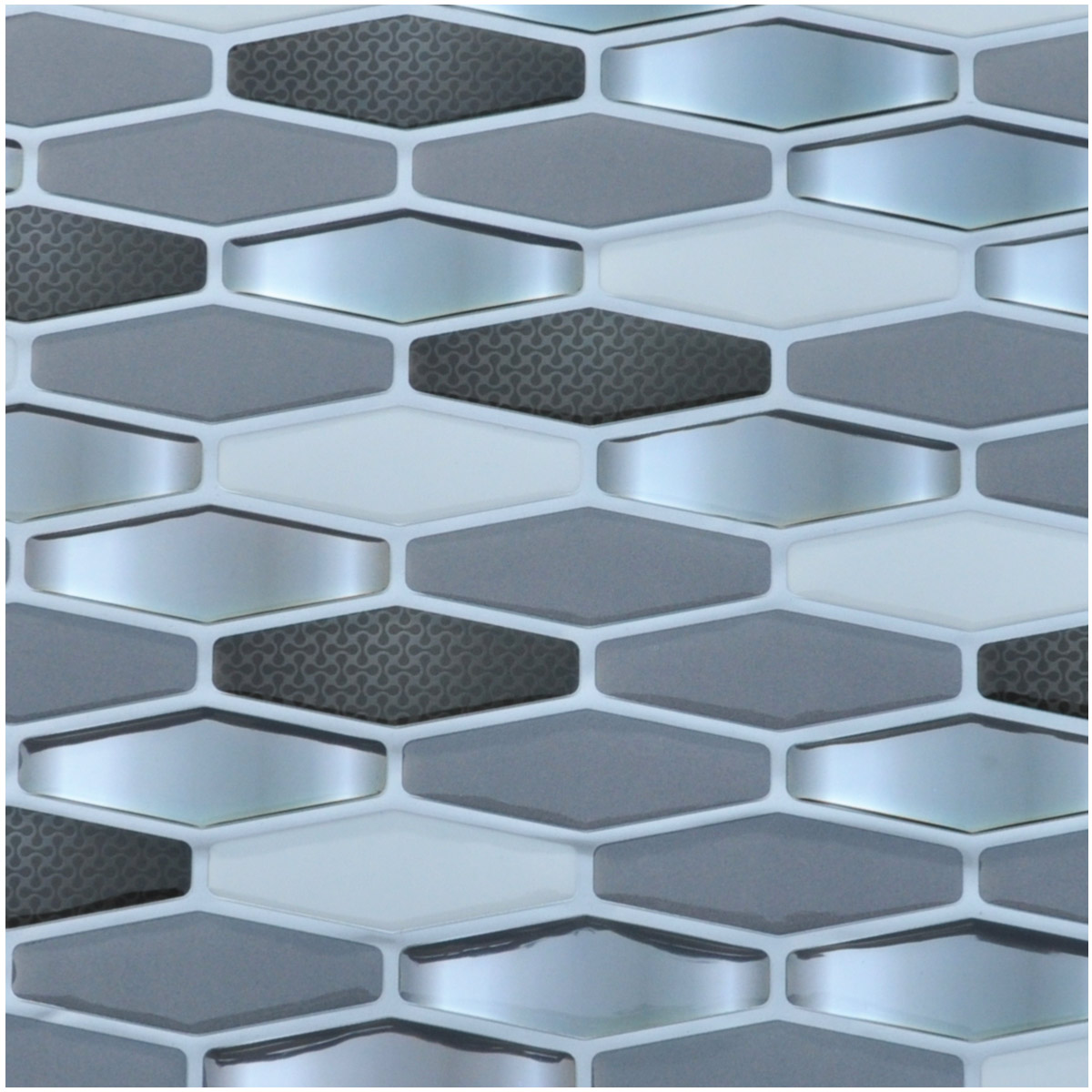 Diamond Wall Tile Peel and Stick Backsplash Sticker, Set of 6