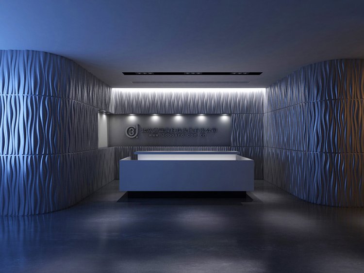Interior 3D Wall Wave Paneling