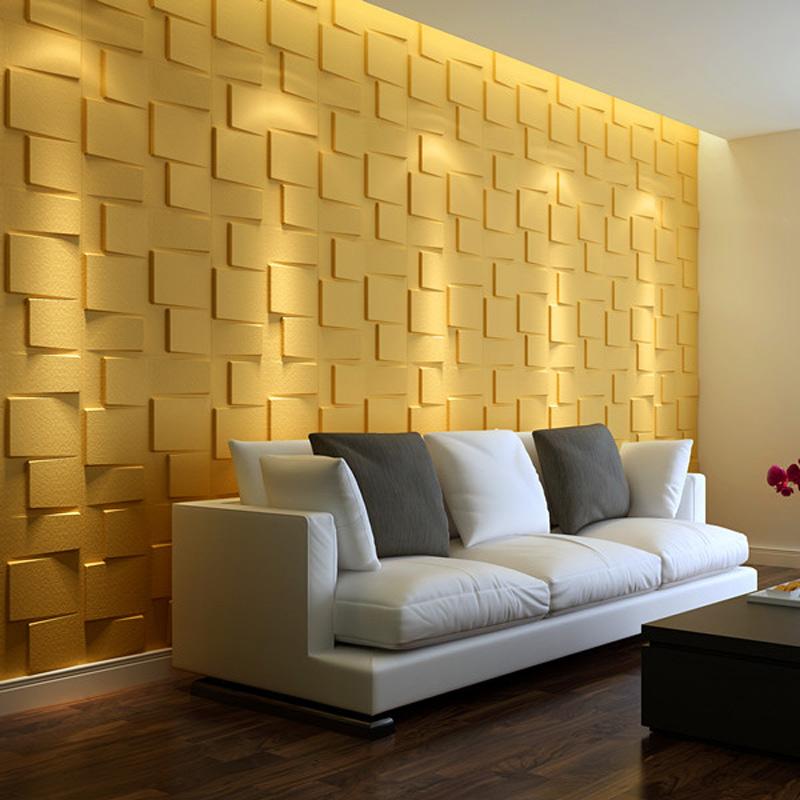 Plant Fiber Wainscot 3D Wall Panels Matt-white, 12 Tiles 32 SF