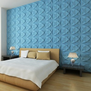 A21025 - Three D Wall Tiles 3D Wall Panels Plant Fiber Material(set of 33) 3 m² or 32 Sq.Ft