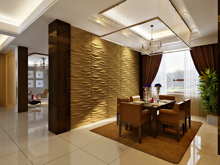 Three D Wall Wave Tile
