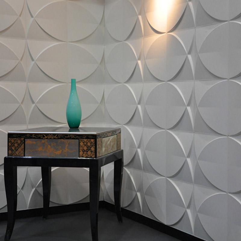 A21029 - 3d wall Panels Plant Fiber Material (set of 33) 3 m² or 32 Sq.Ft