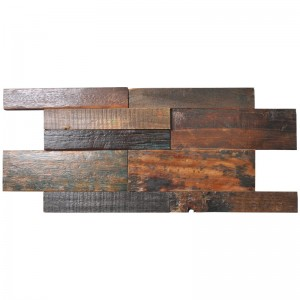 A15104 - Ancient Ship Wood Panel Interior Wall Coverings 11 Tiles 21.31 sq.ft