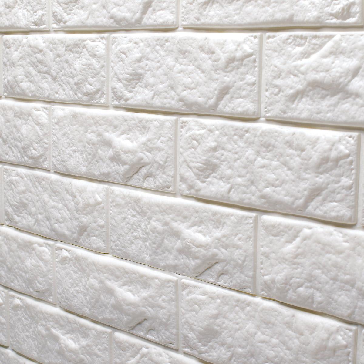 Brick Design Wall Covering : Peel stick d wall panels foam block brick design