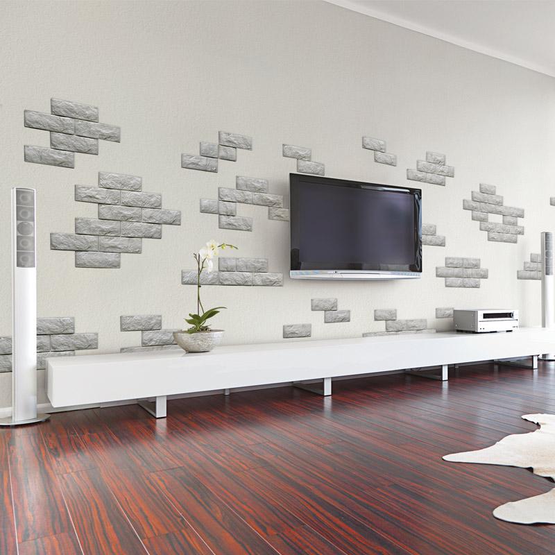 Brick peel stick pe wallpaper 3d effect 10 sheets 48 4 sq ft for 3d effect wallpaper for walls