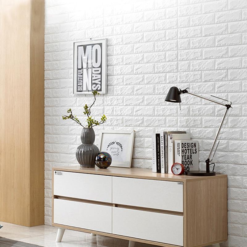 3D Peel & Stick Wallpaper Brick Design 10 Sheets 59 Sq.Ft