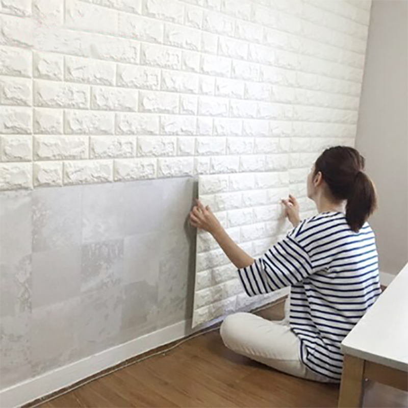 A06001 Peel & Stick Wallpaper Brick Design 10 Sheets 59 Sq.Ft