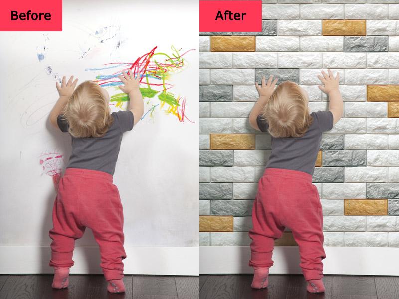 peel stick 3d wall panels foam block brick design 10 pics 48 4 sq ft