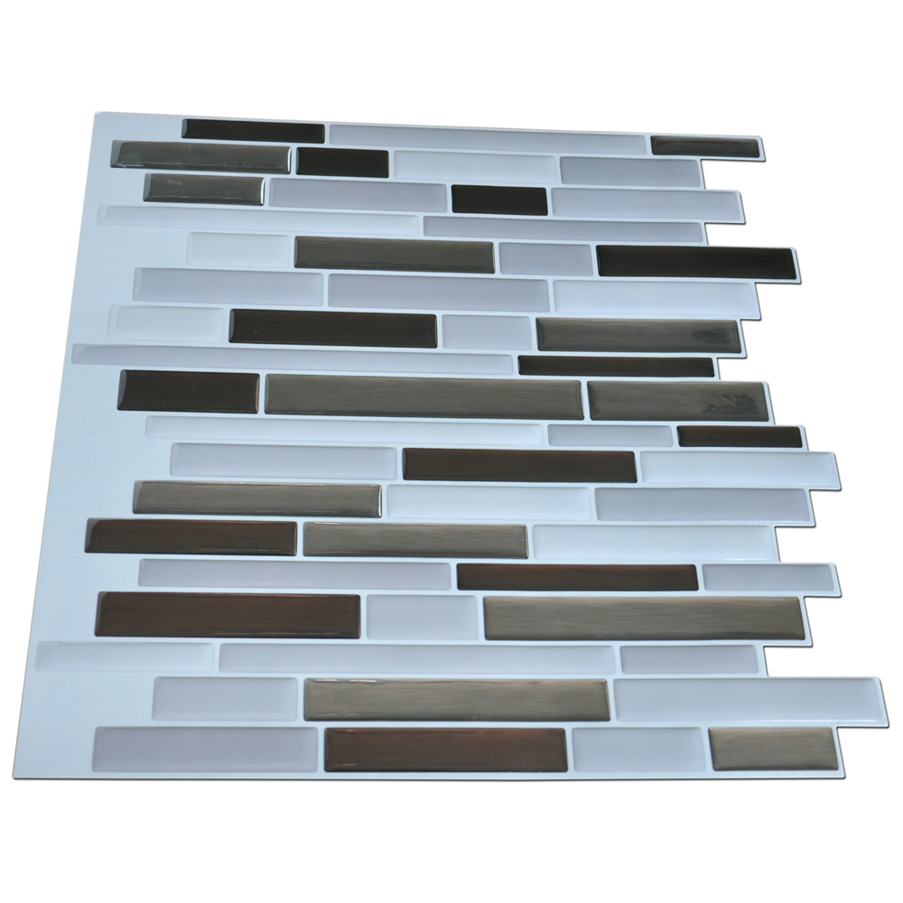 A17018   Self Adhesive Wall Tiles For Kitchen Backsplash, 12