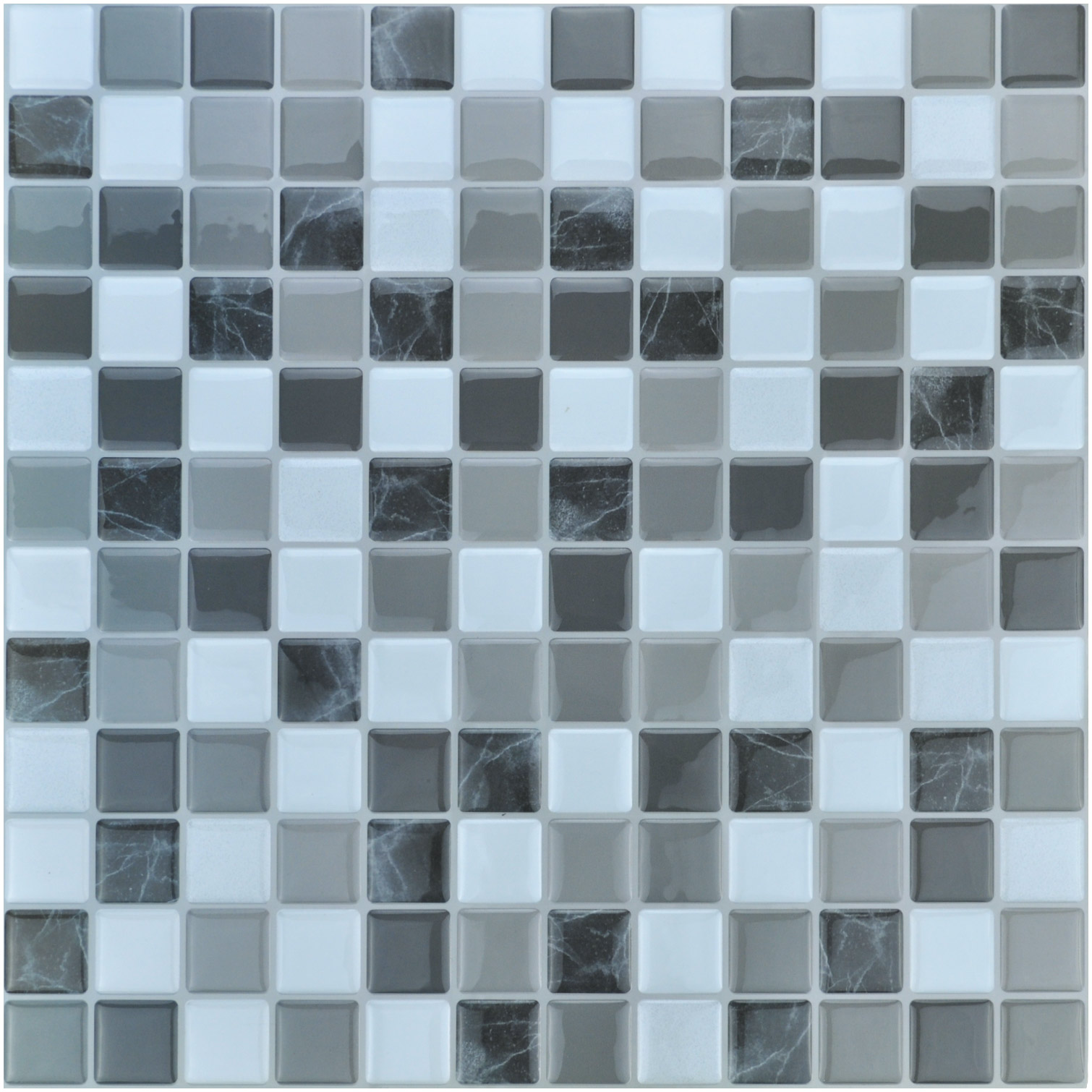 A17019 - Peel and Stick Mosaic Smart Tiles, 12 inch x 12inch Set of 10