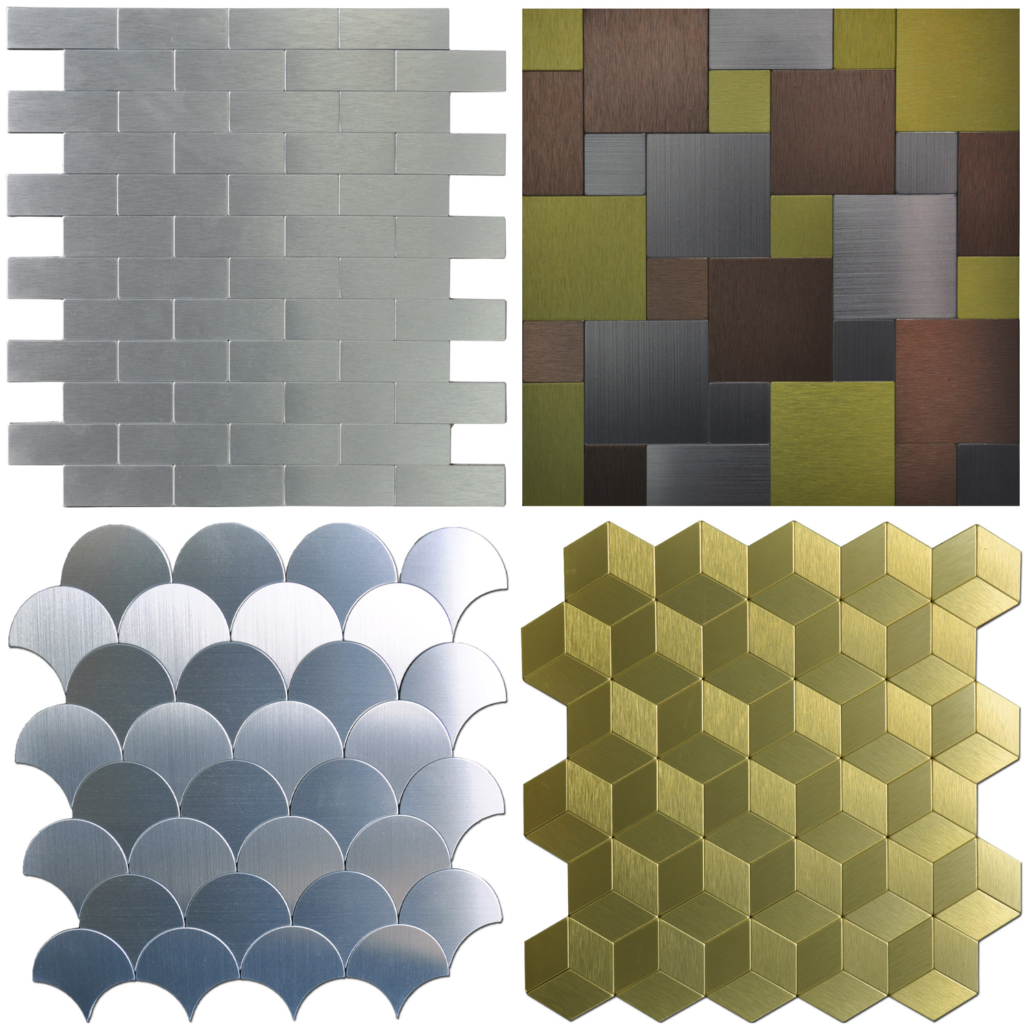 - Peel & Stick Metal Tiles Sample, Wall Art For Kitchen Backsplashes