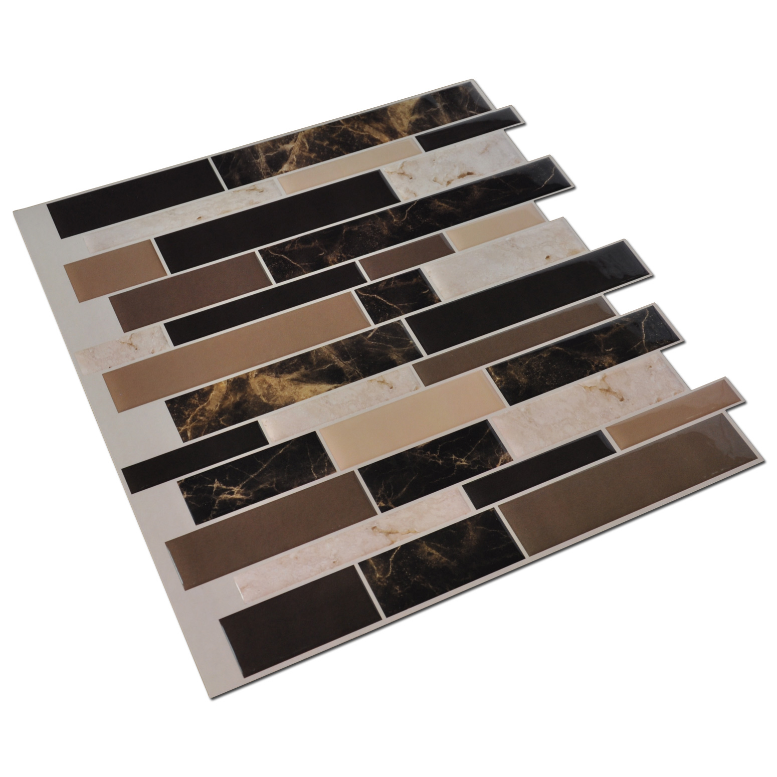 Self stick tile backsplash