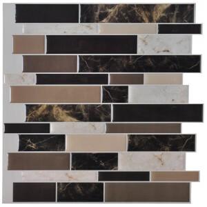 A17024 - Vinyl Self-Adhesive Backsplash Tiles for Kitchen, 12