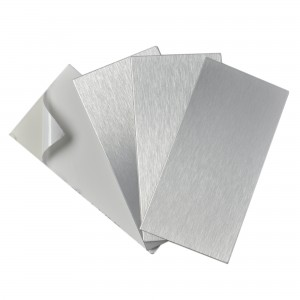 A16021P4 - Peel and Stick Tile Metal Backsplash for Kitchen, Subway, Set of 4