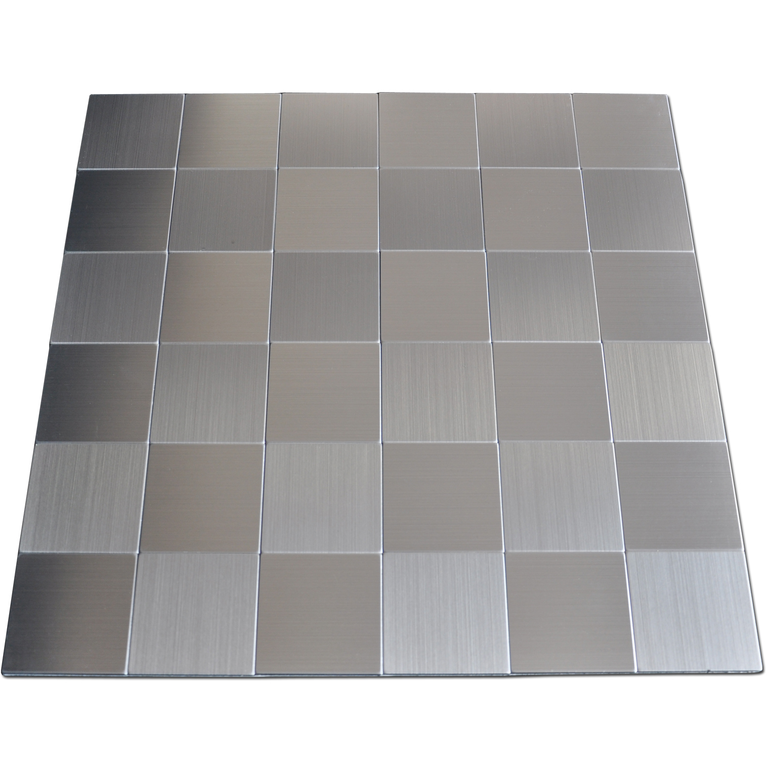 Self adhesive metal tiles 10 pcs stainless peel n stick for Stainless steel backsplash tiles self adhesive