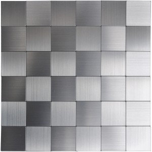 A16110 - Self-adhesive Metal Tiles 10 Pcs Stainless Peel N Stick Backsplashes Tiles 12x12In