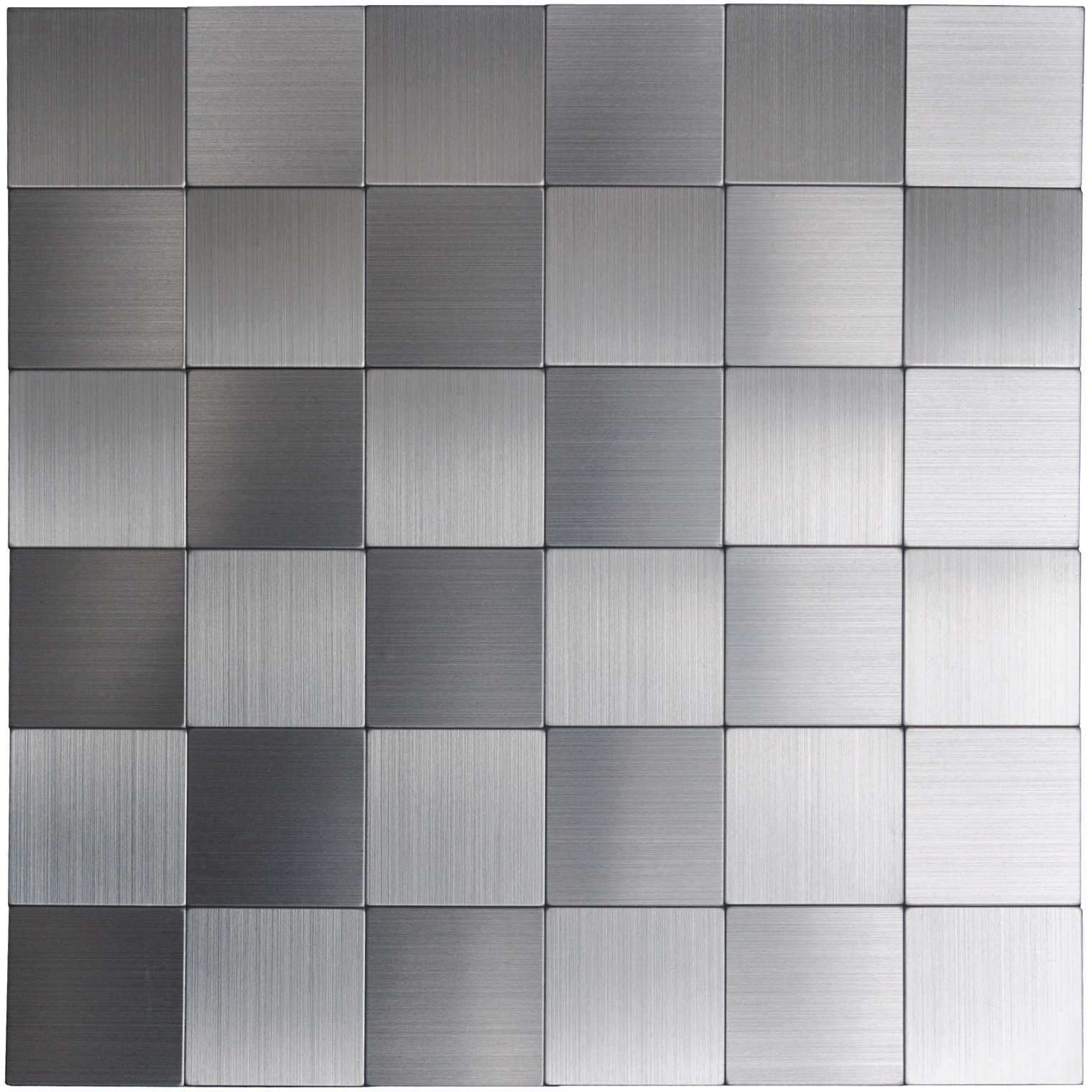 A16110 Self Adhesive Metal Tiles 10 Pcs Stainless Peel N Stick Backsplashes Tiles 12x12in