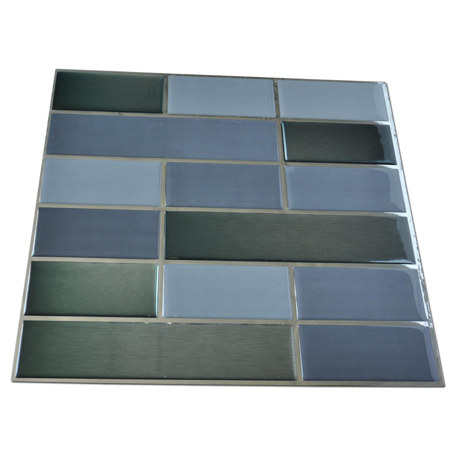 backsplash tiles for kitchen 10 pieces peel n stick tile 9 5 sq ft