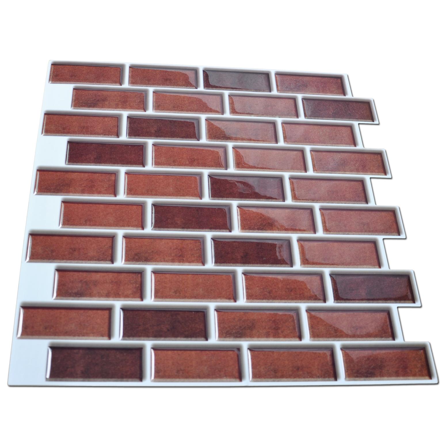 Peel And Stick Brick Backsplash Tile For Kitchen 12x12 Set Of 6