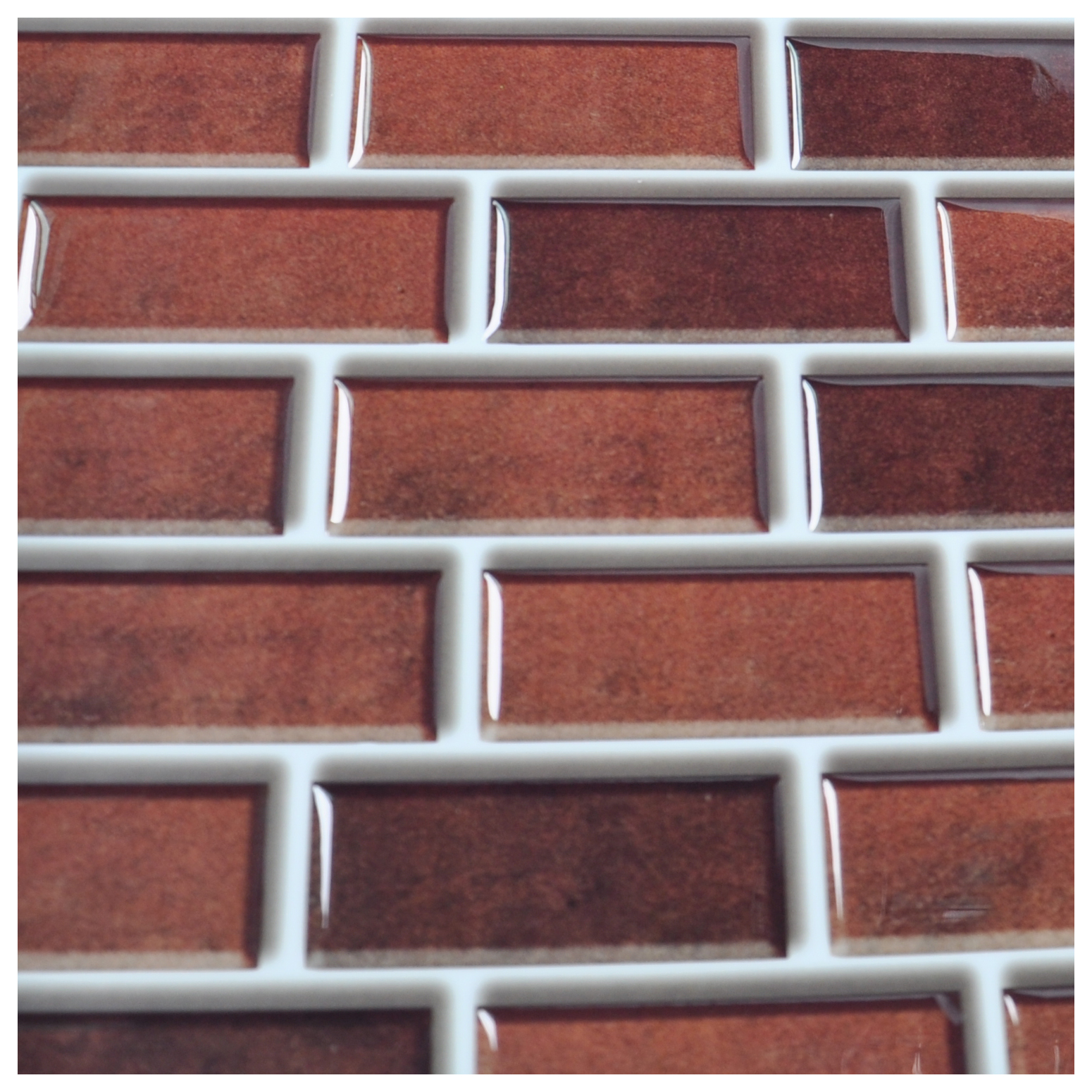 Peel and stick brick backsplash tile for kitchen 12x12 set of 6 dailygadgetfo Gallery