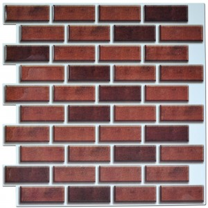 A17026 - Peel and Stick Brick Backsplash Tile for Kitchen, 12