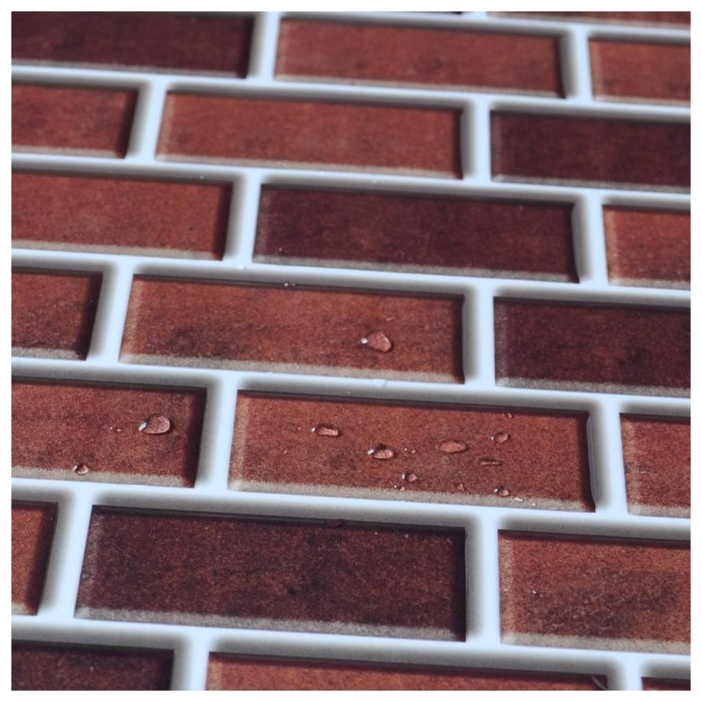 Peel and stick brick backsplash tiles