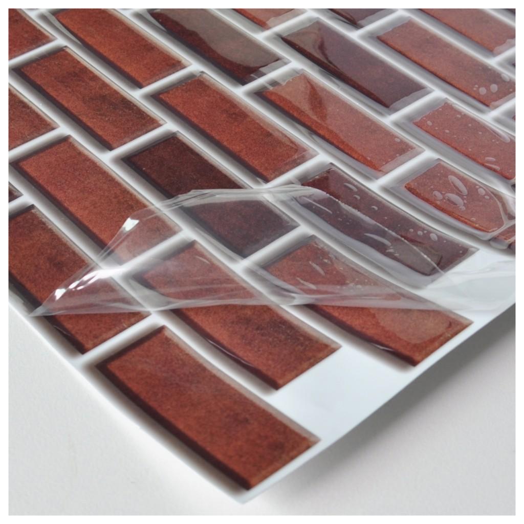 Peel And Stick Brick Backsplash Tile For Kitchen 12 X12 Set Of 6