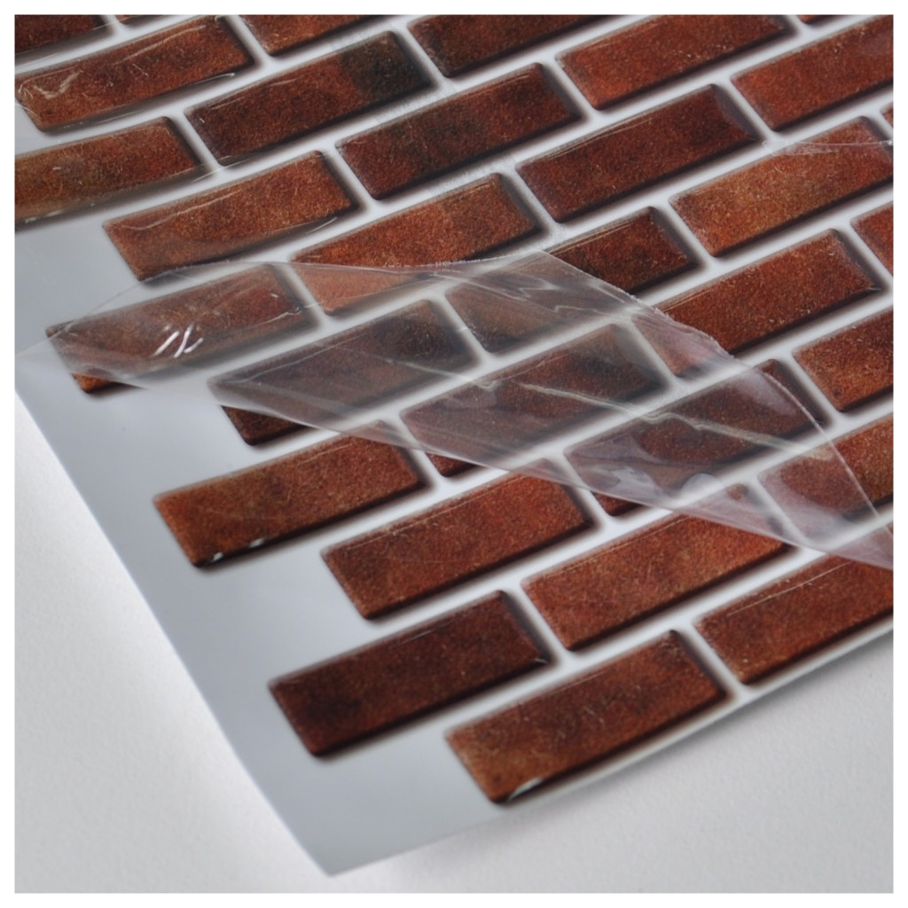 Peel And Stick Wall Tile In Mini Brick Style For Kitchen Set Of 6 - Peel-and-stick-backsplash-plans