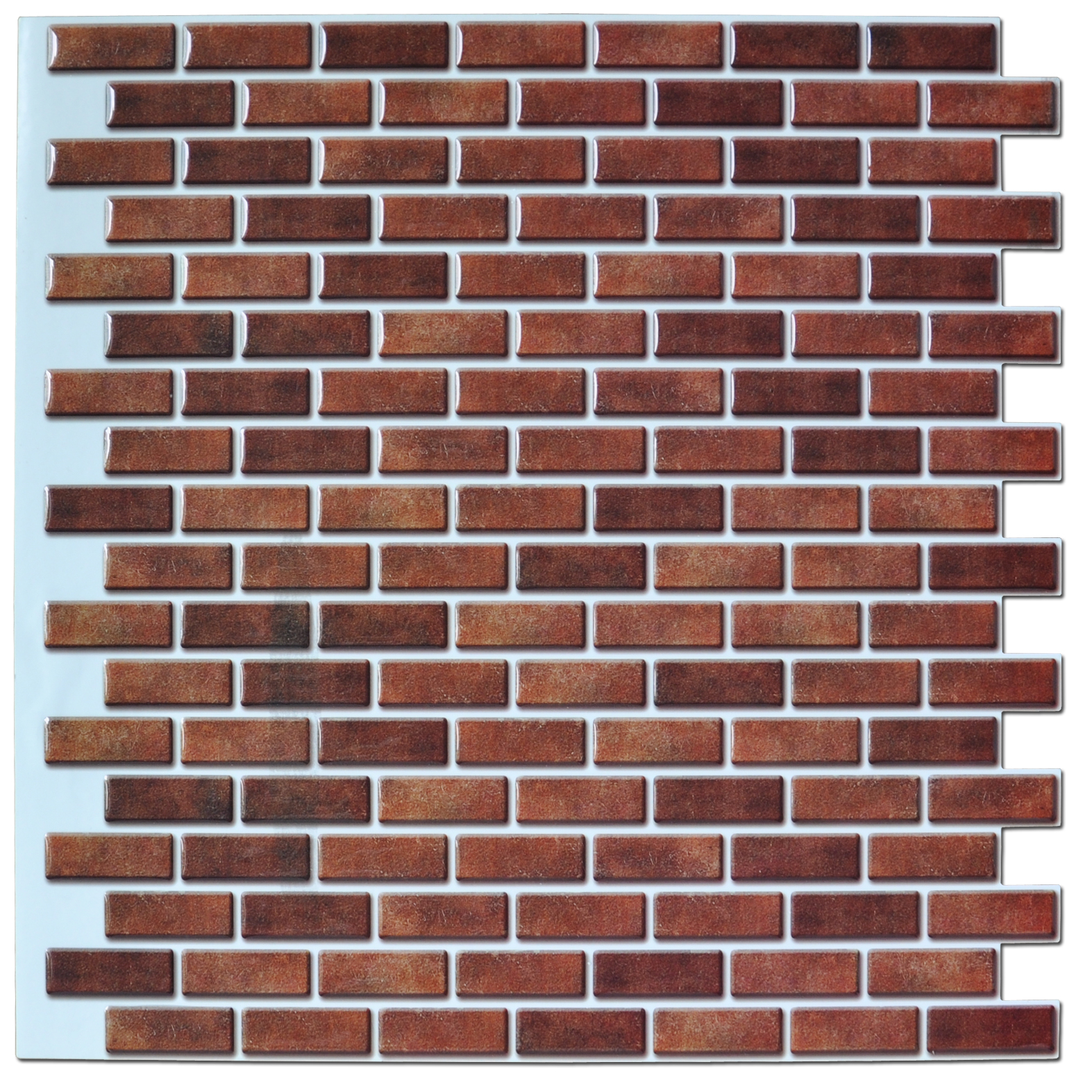 Pack Of 6 Peel And Stick Wall Tile In Brick Style For Kitchen And Bathroom