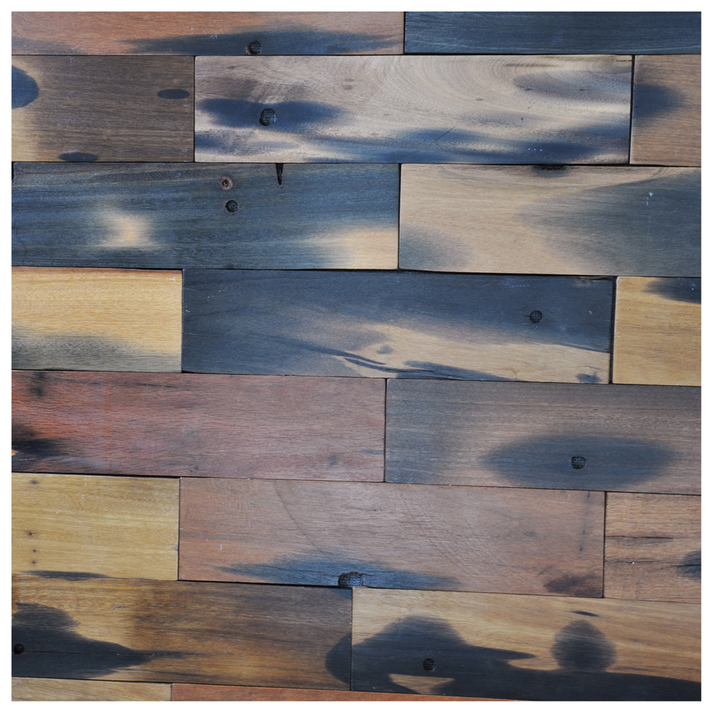 A15601   Reclaimed Wood Wall Paneling Interior Wall Tiles 4 X 16 In