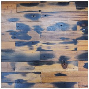 A15602 - Reclaimed Boat Wood Tiles 4 X 24 In Interior Wall Mosaic